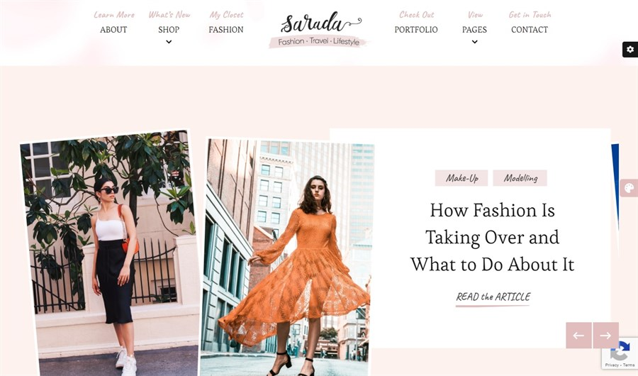 Sarada WordPress theme demo