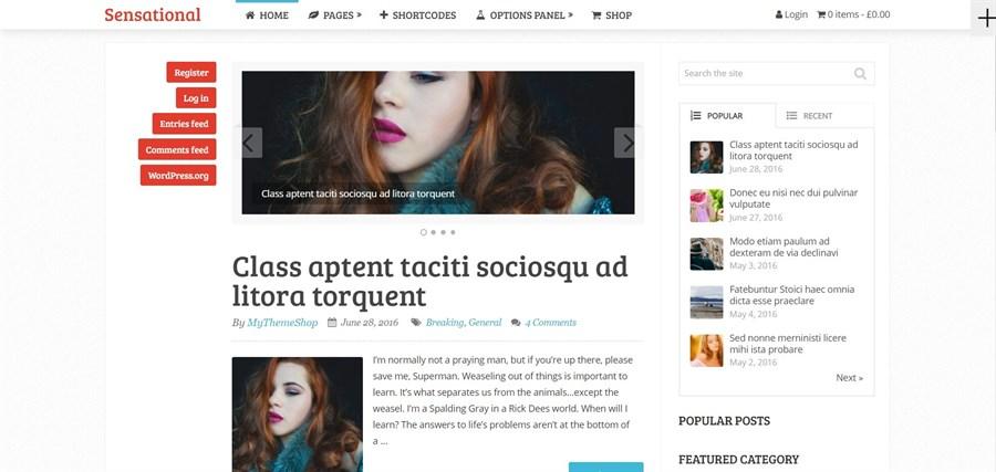 Sensational Theme adsense optimized wordpress theme