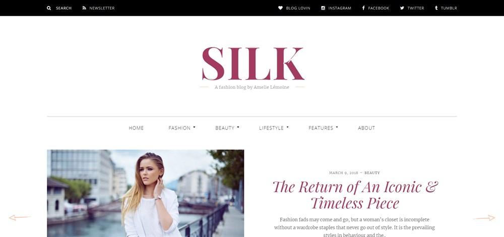 Silk A fashion blog theme demo