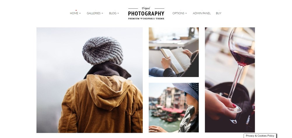 Tripod Colored Photography WordPress Theme demo