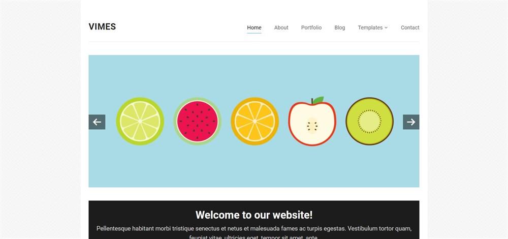 Vimes theme Demo site