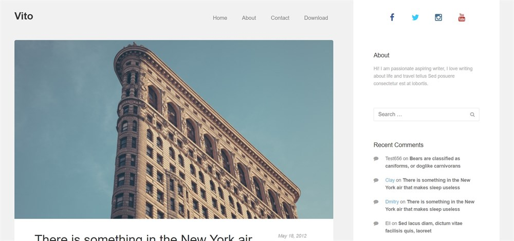Vito demo site
