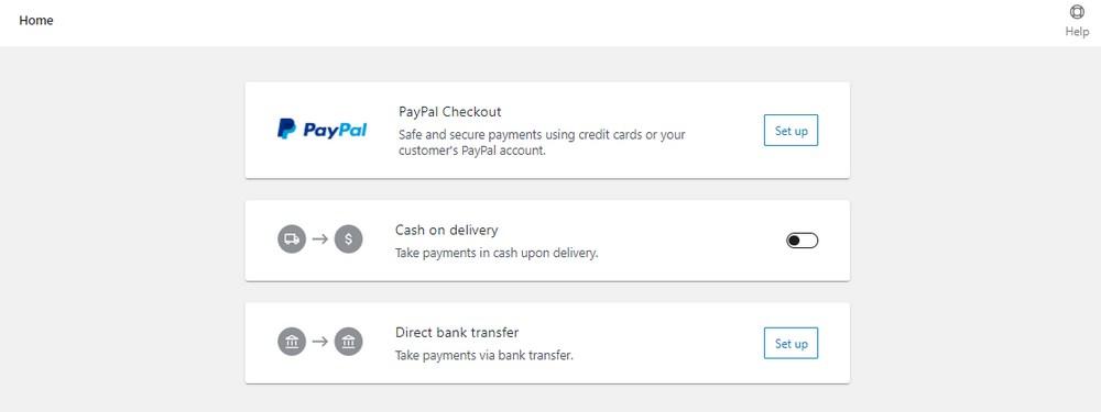 WooCommerce Payment methods