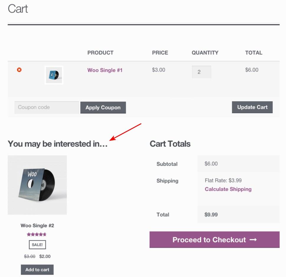 WooCommerce cross selling