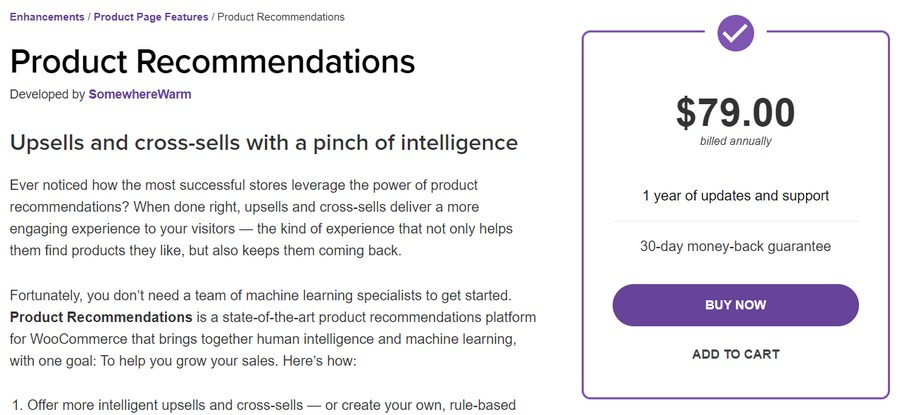 WooCommerce product recommendations plugin