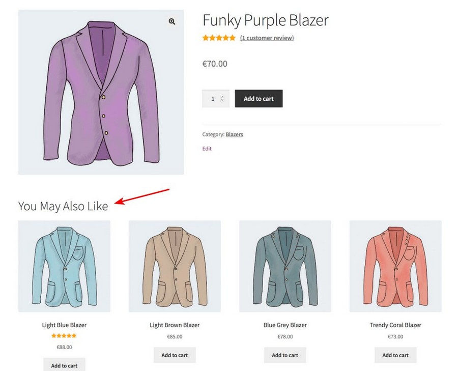 WooCommerce recommended products