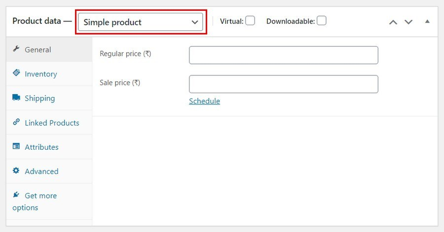 WooCommerce simple product