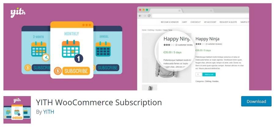 YITY WooCommerce Subscription plugin