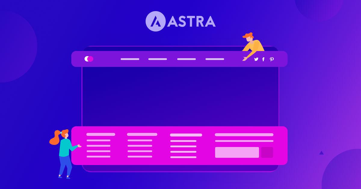 Astra header footer image