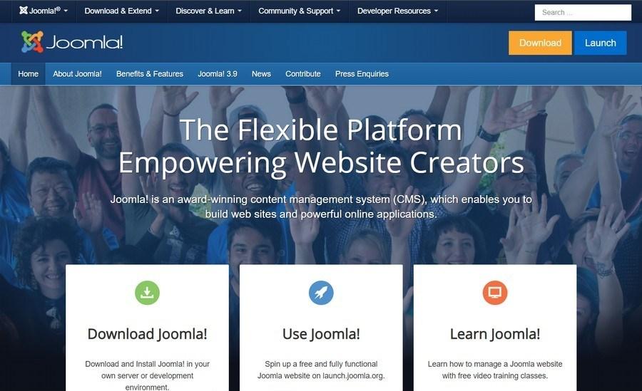 joomla homepage