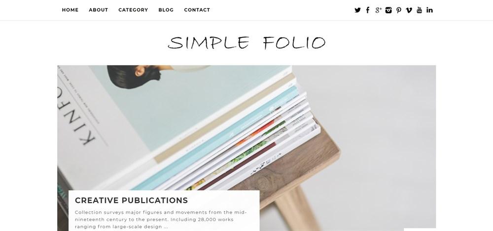 simple folio wordpress theme