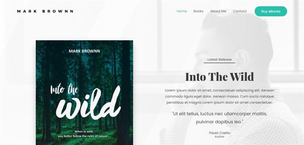 Astra Author website demo