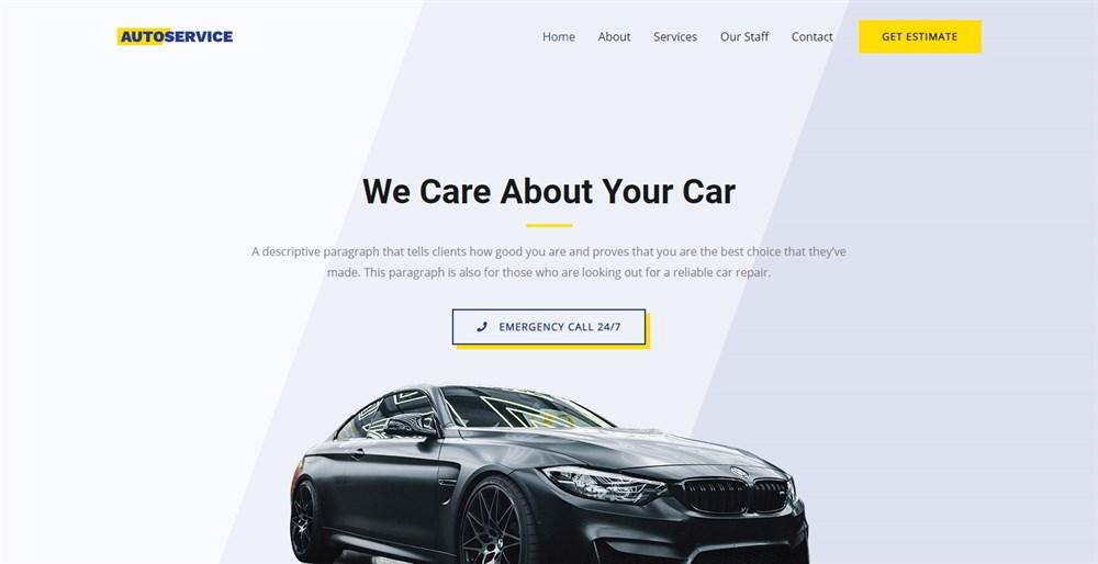 Astra Car Repair demo site
