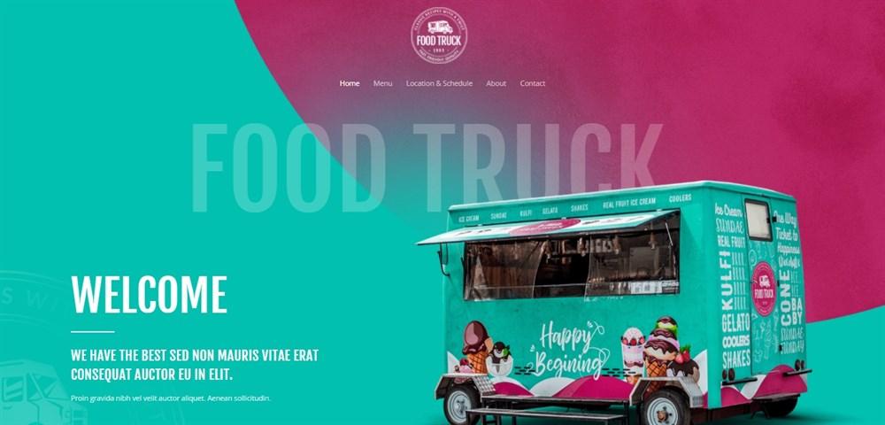 Astra Food Truck website demo