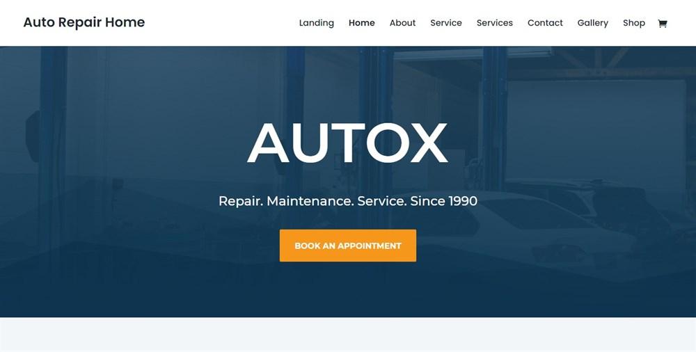 Auto Repair divi theme demo