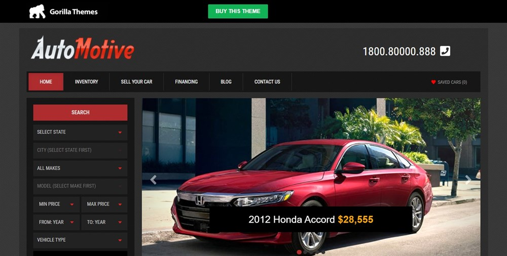 Automotive WordPress Car Dealer Automotive Business Theme