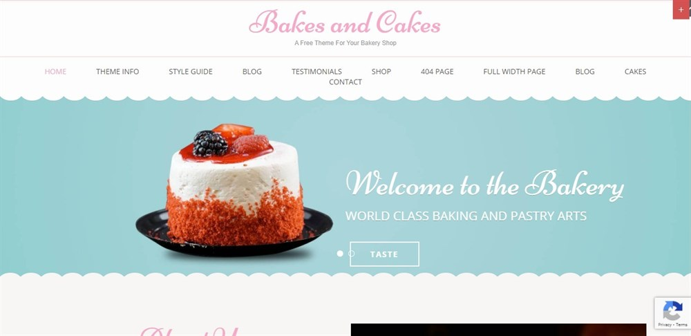 Bakes and cakes demo site