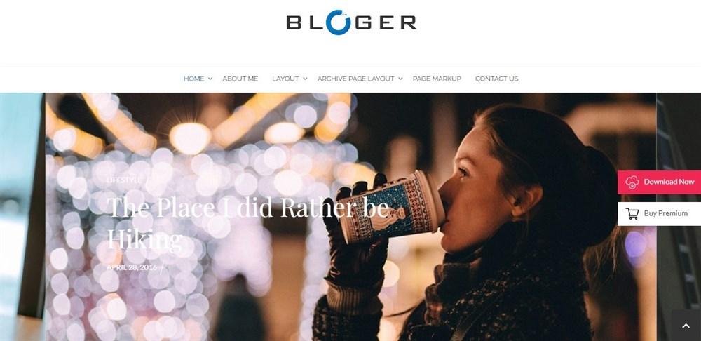 Bloger WordPress theme demo