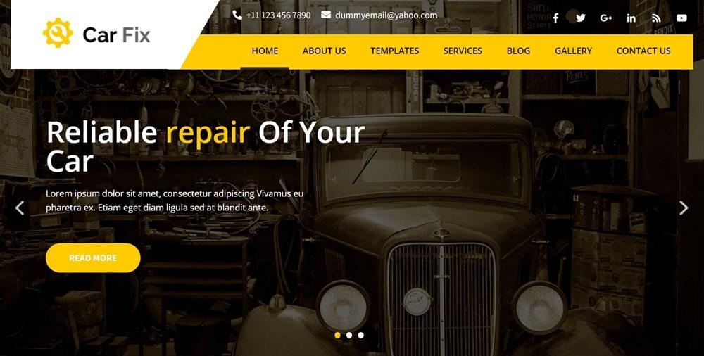 Car Fix website demo