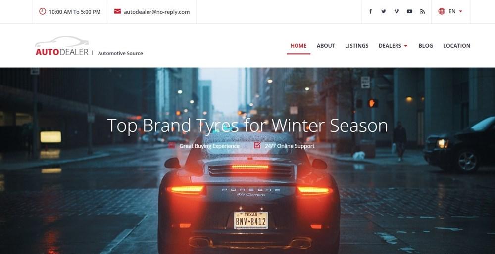 CarListings WordPress theme for car dealership