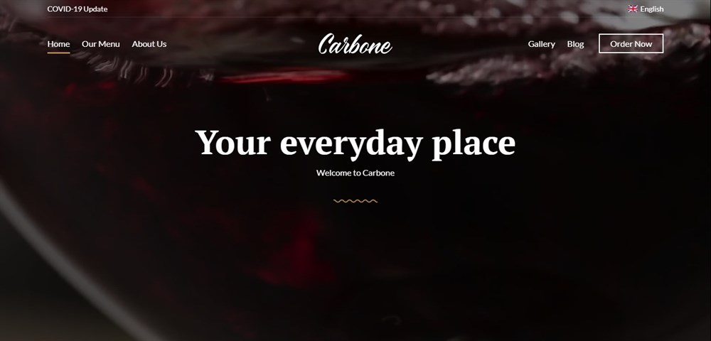 Carbone bar restaurant theme for WordPress
