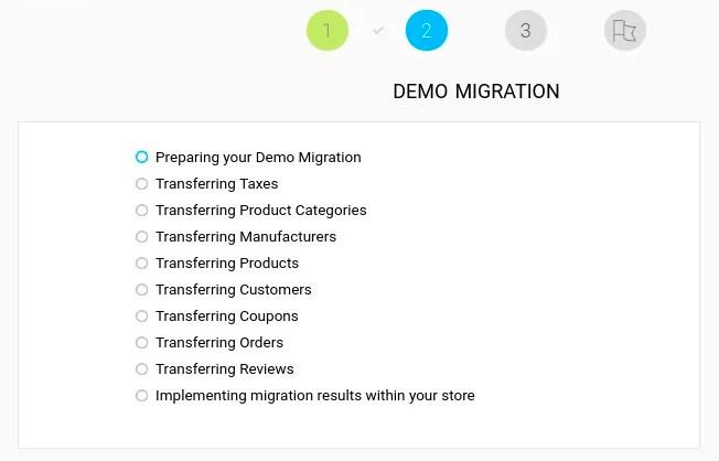 Cart2Cart data migration demo