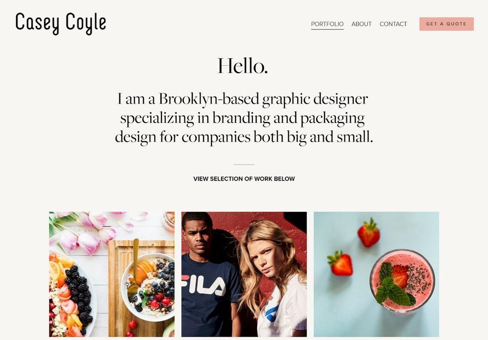 Casey Coyle portfolio website