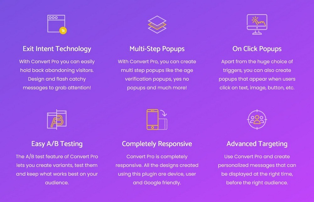 Convert Pro features