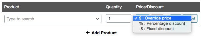 Coupon data add product setting