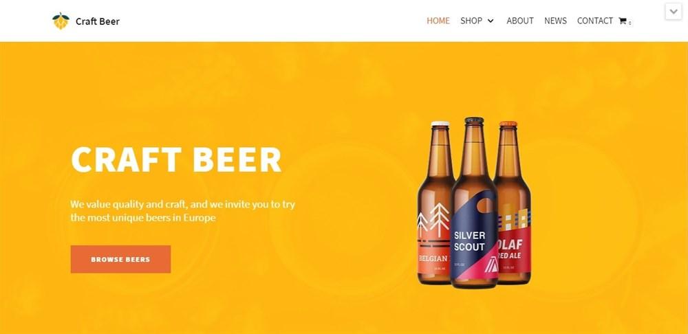Craft Beer Neve demo template