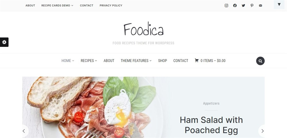 Foodica demo site
