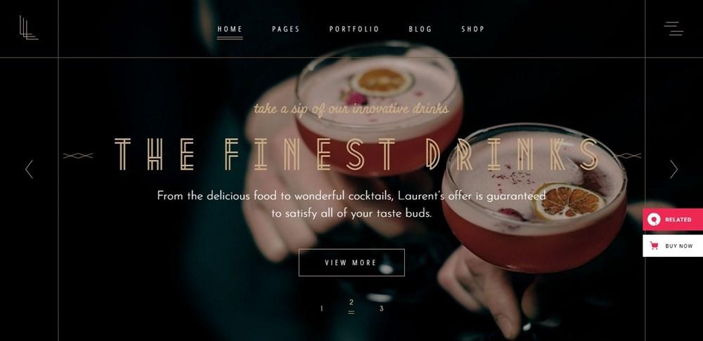 Laurent Restaurant Theme demo site