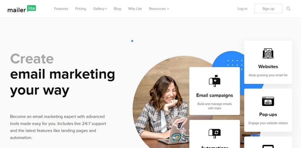 MailerLite Create Email Marketing