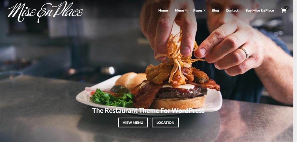 Mise En Place Restaurant Theme demo