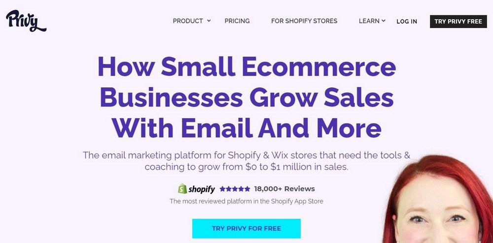 Privy email marketing platform