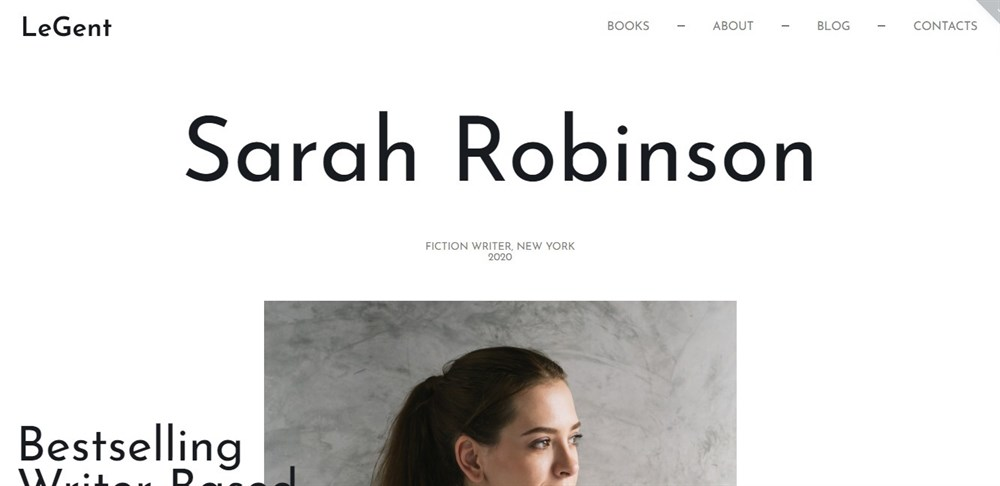Responsive Book writers and authors WordPress theme