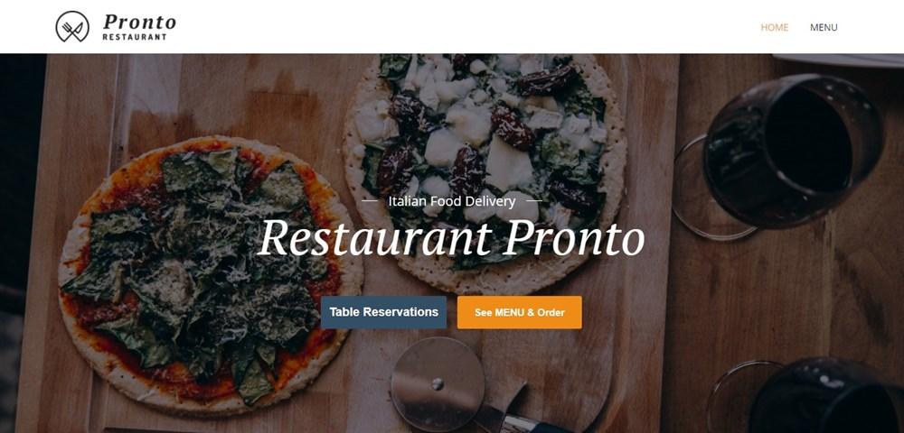 Restaurant Pronto theme demo