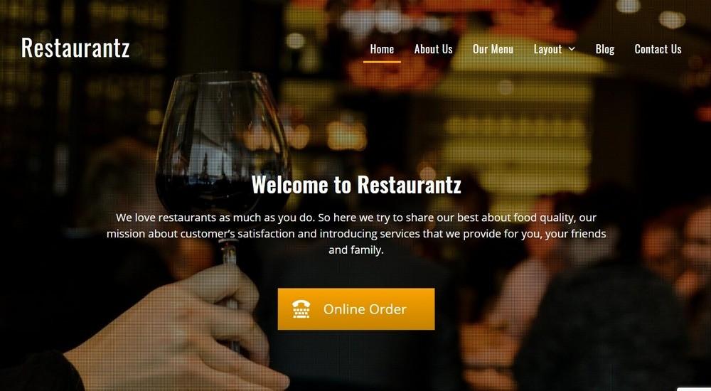 Restaurantz theme By WEN Themes