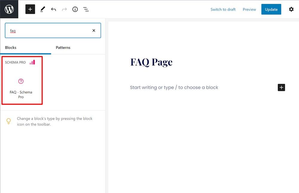 Schema Pro FAQ schema block