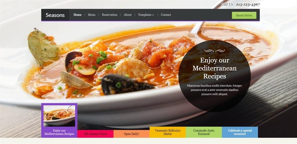 Seasons restaurant WordPress theme demo