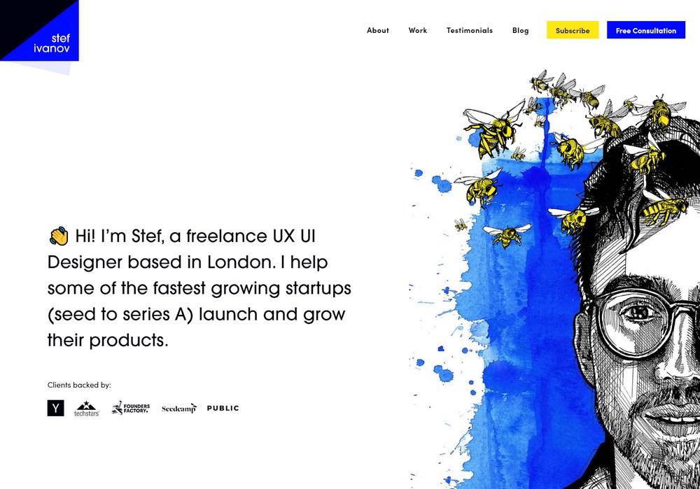 Stef Ivanov portfolio website