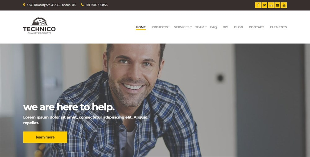 Technico WordPress theme