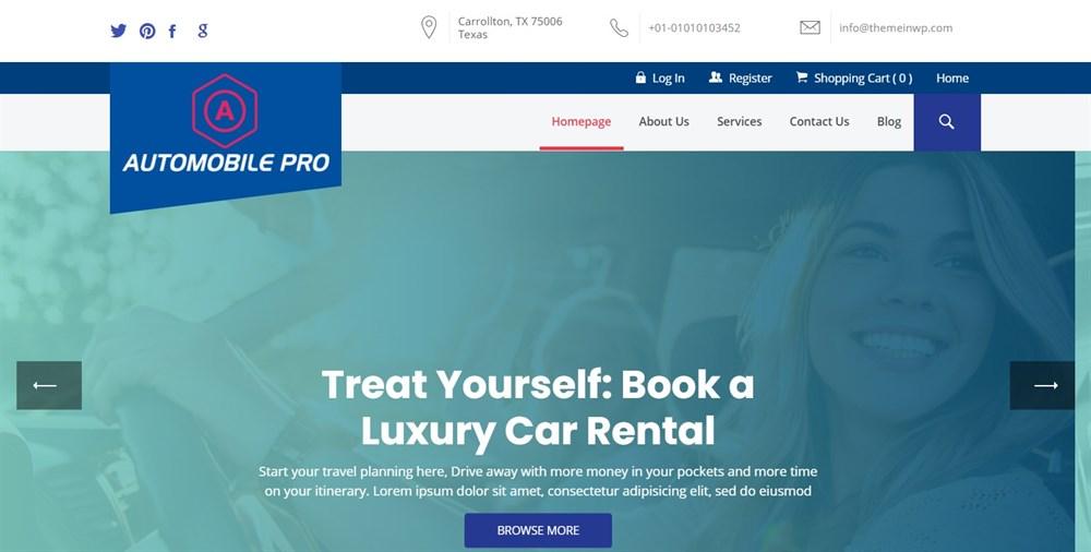 The Automobile Pro demo site