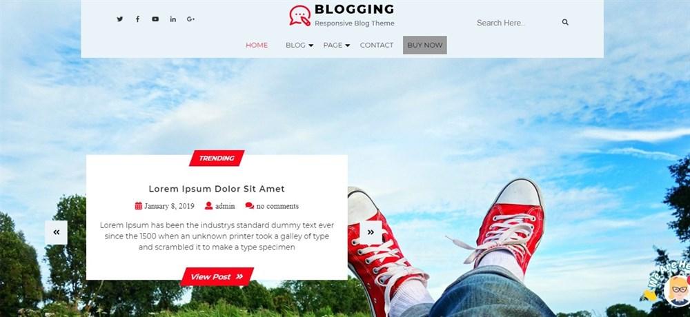 The Writers Blog Pro theme demo