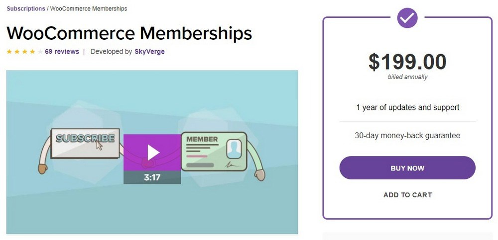 WooCommerce Memberships plugin