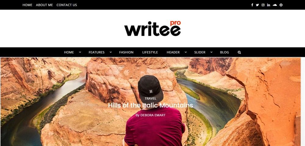 Writee Pro demo site