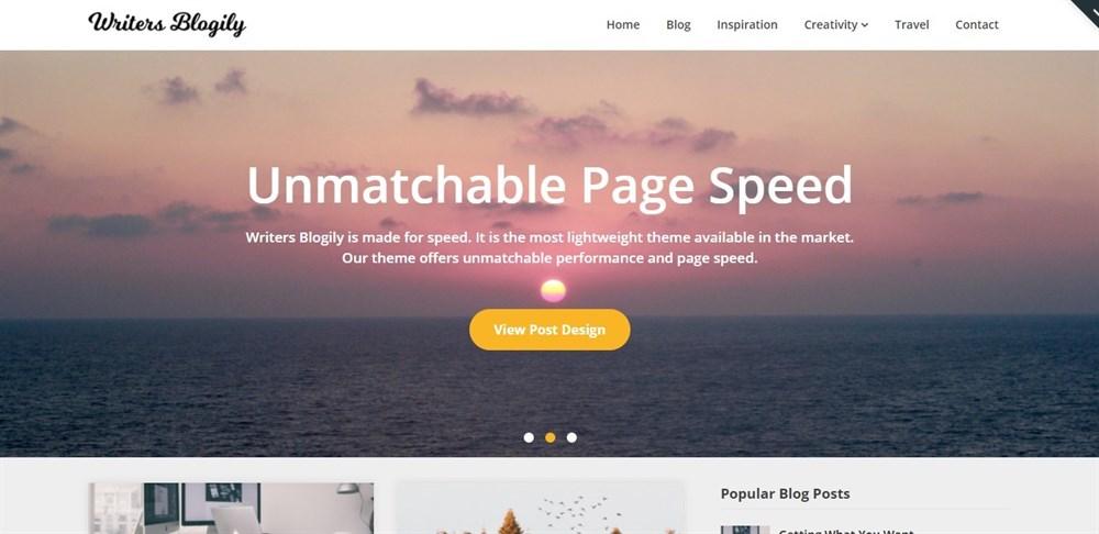Writers Blogily WordPress Theme Demo