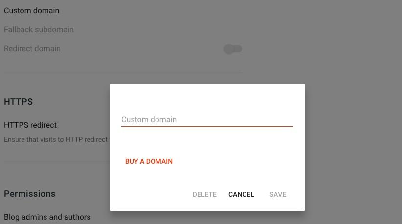 buy domain for blogger