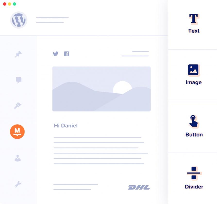 mailpoet drag and drop editor
