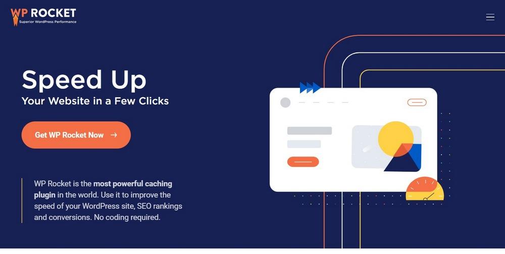 Caching Plugin for WordPress⎪WP Rocket homepage
